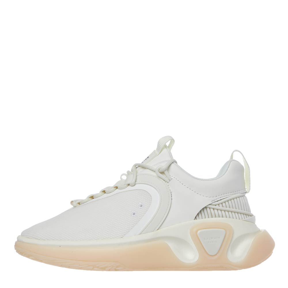 Balmain LOW TOP TRAINERS - WHITE