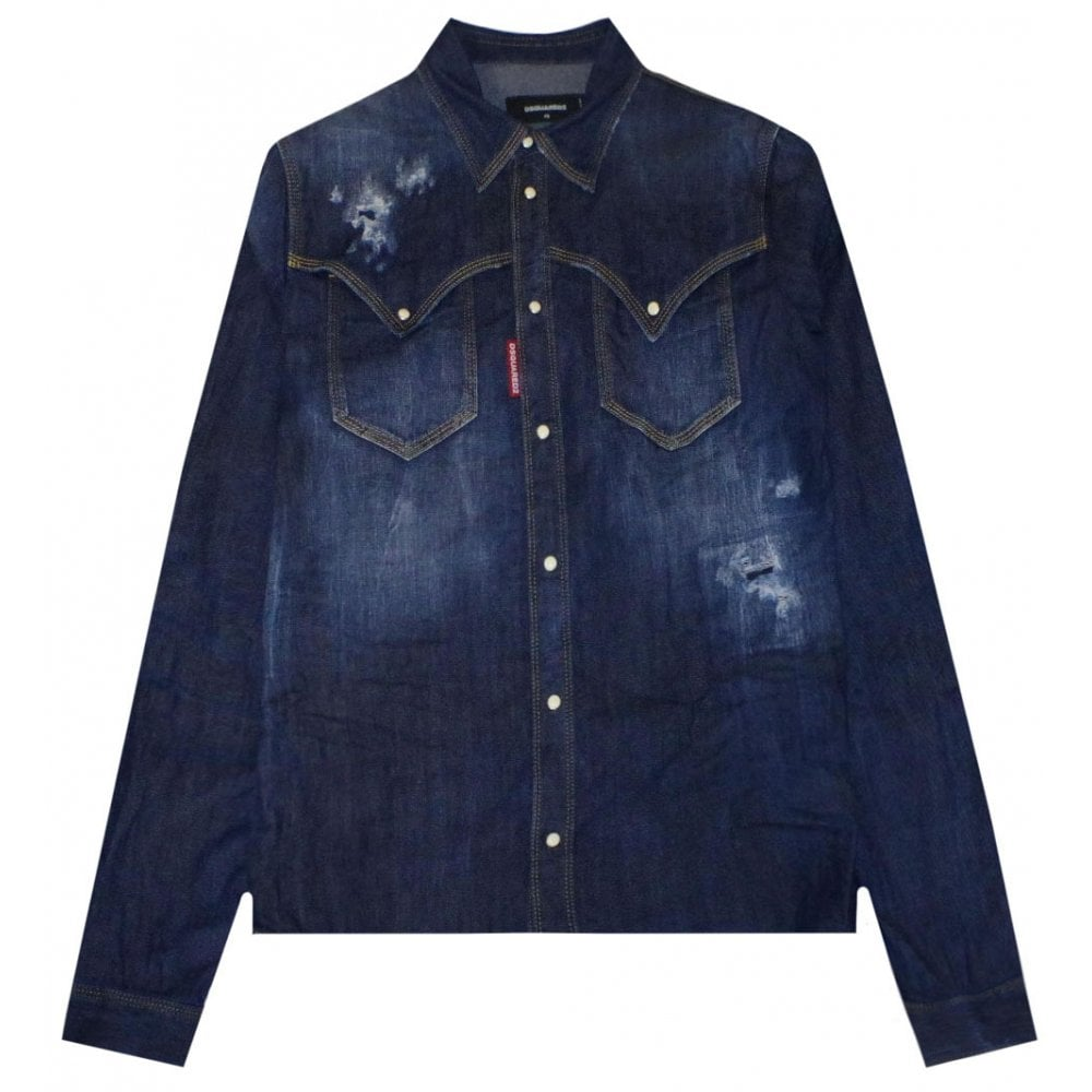Dsquared2 Denim Shirt Colour: Blue