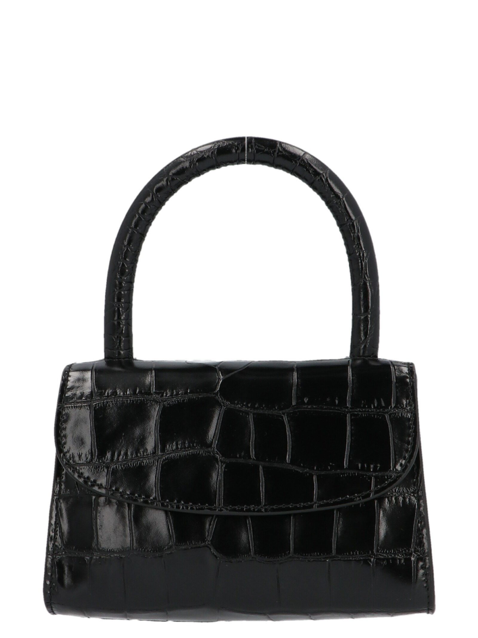By Far BY FAR WOMEN'S 19CRMINABLDSMABL BLACK LEATHER HANDBAG