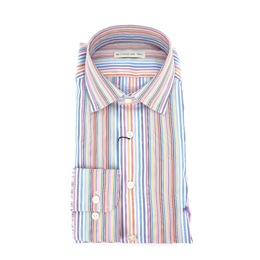 Etro ETRO MEN'S 1K52630148000 MULTICOLOR COTTON SHIRT