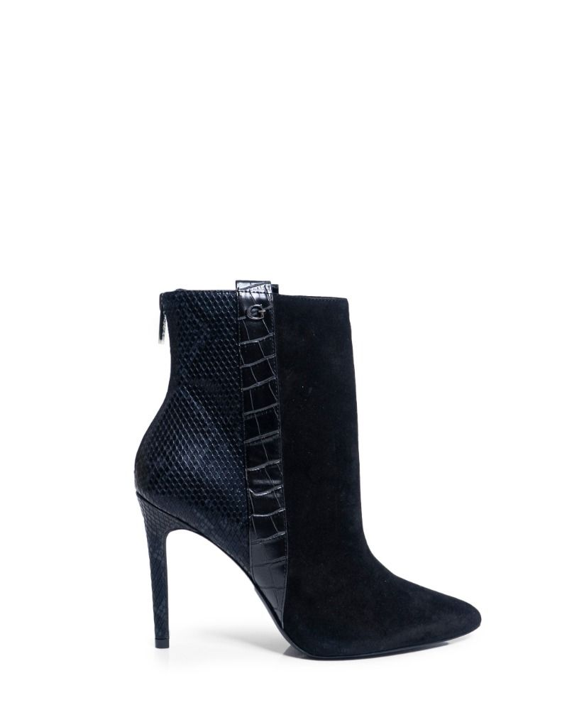 Guess GUESS WOMEN'S FL8BZISUE10BLACK BLACK LEATHER ANKLE BOOTS