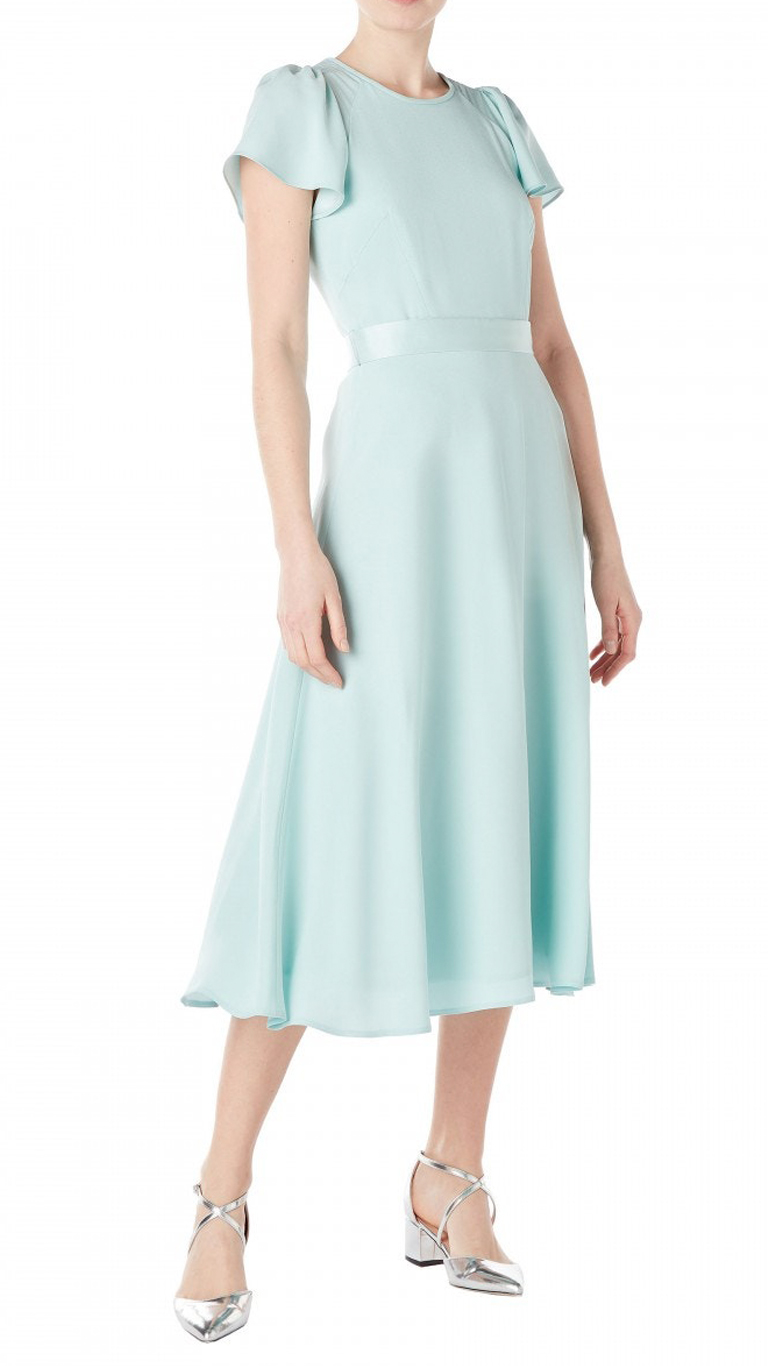 Goat Jewel Cady Midi Dress Aqua