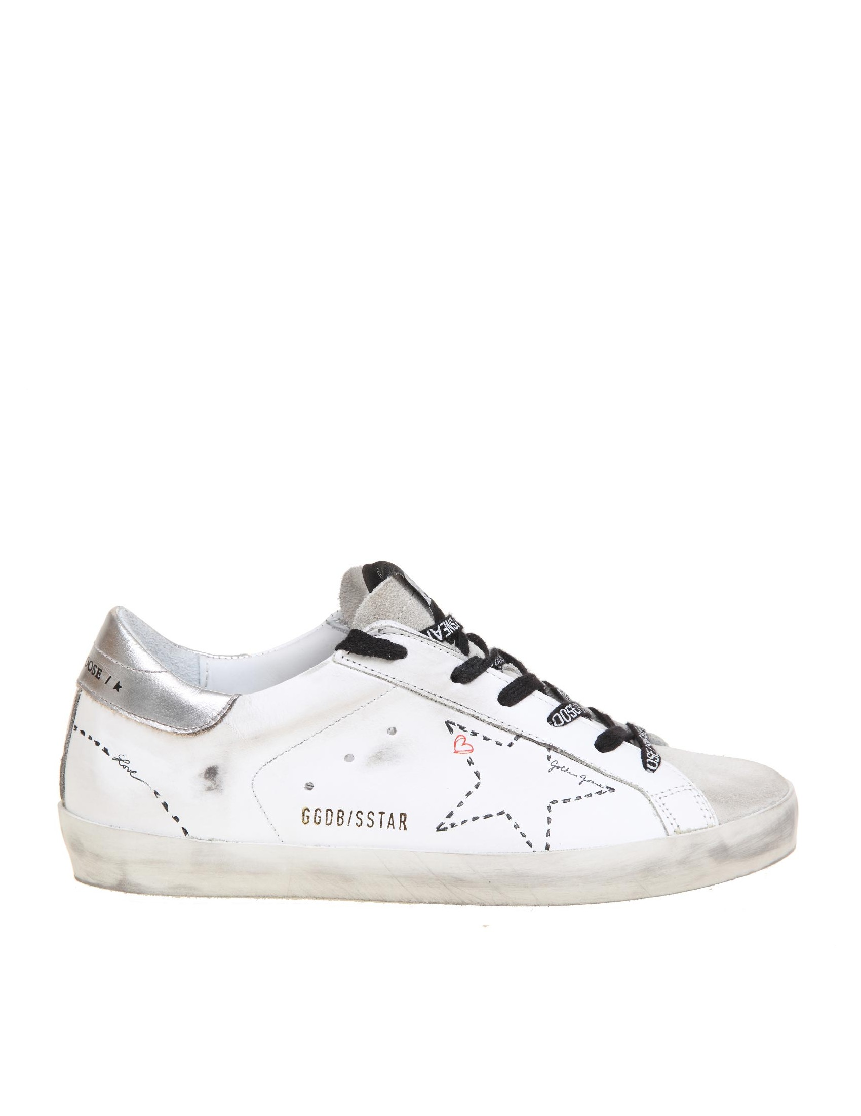 Golden Goose GOLDEN GOOSE SUPER STAR SNEAKERS IN WHITE LEATHER
