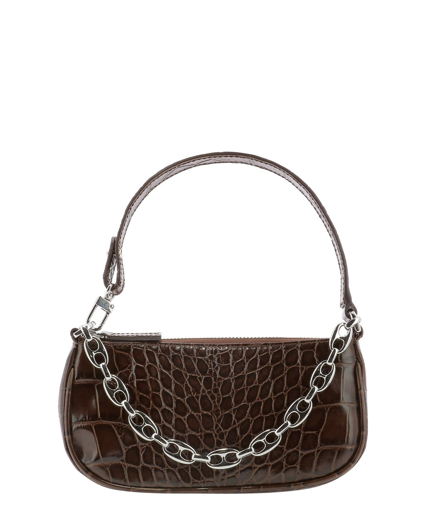 By Far BY FAR WOMEN'S 20CRMIRANEDSMANUTELLANE BROWN OTHER MATERIALS SHOULDER BAG