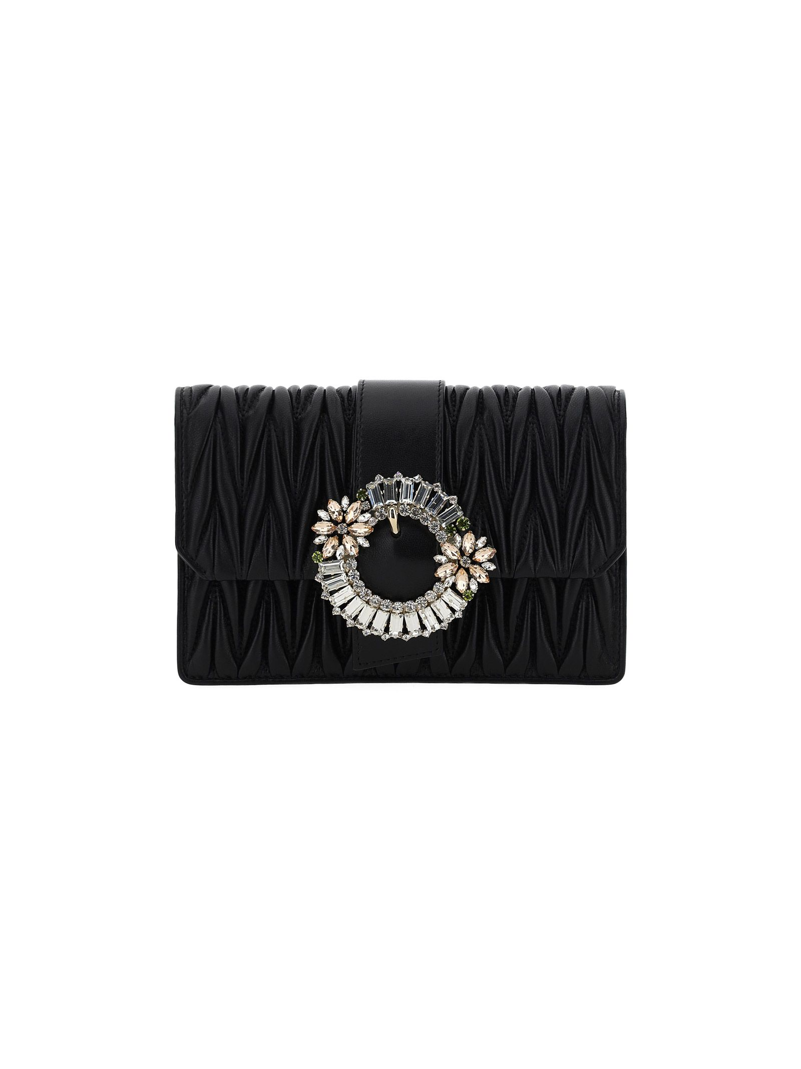Miu Miu MIU MIU WOMEN'S 5BH095VOJON88F0002 BLACK OTHER MATERIALS SHOULDER BAG