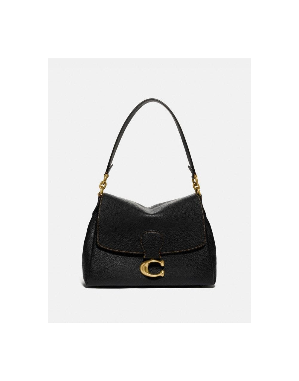 Coach PEBBLE LEATHER C MAY BAG COLOUR: BLACK