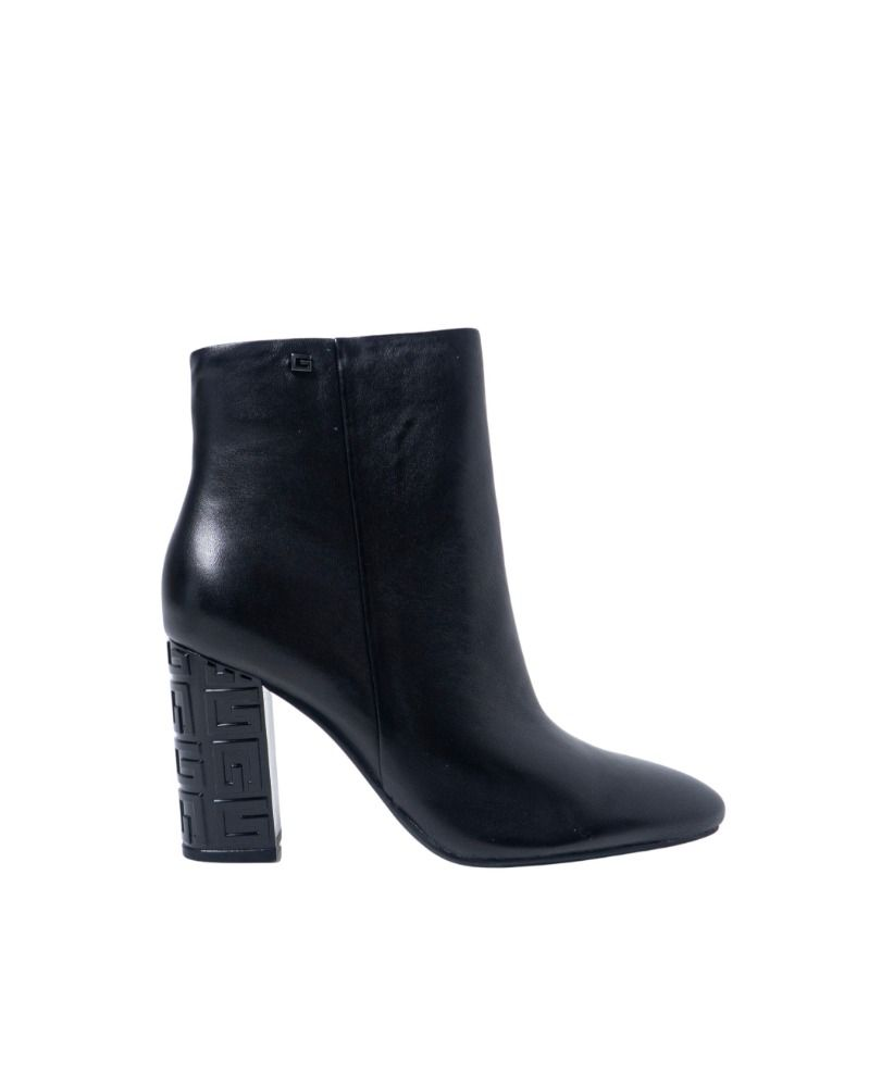 Guess GUESS WOMEN'S FL8LARLEA09BLACK BLACK LEATHER ANKLE BOOTS