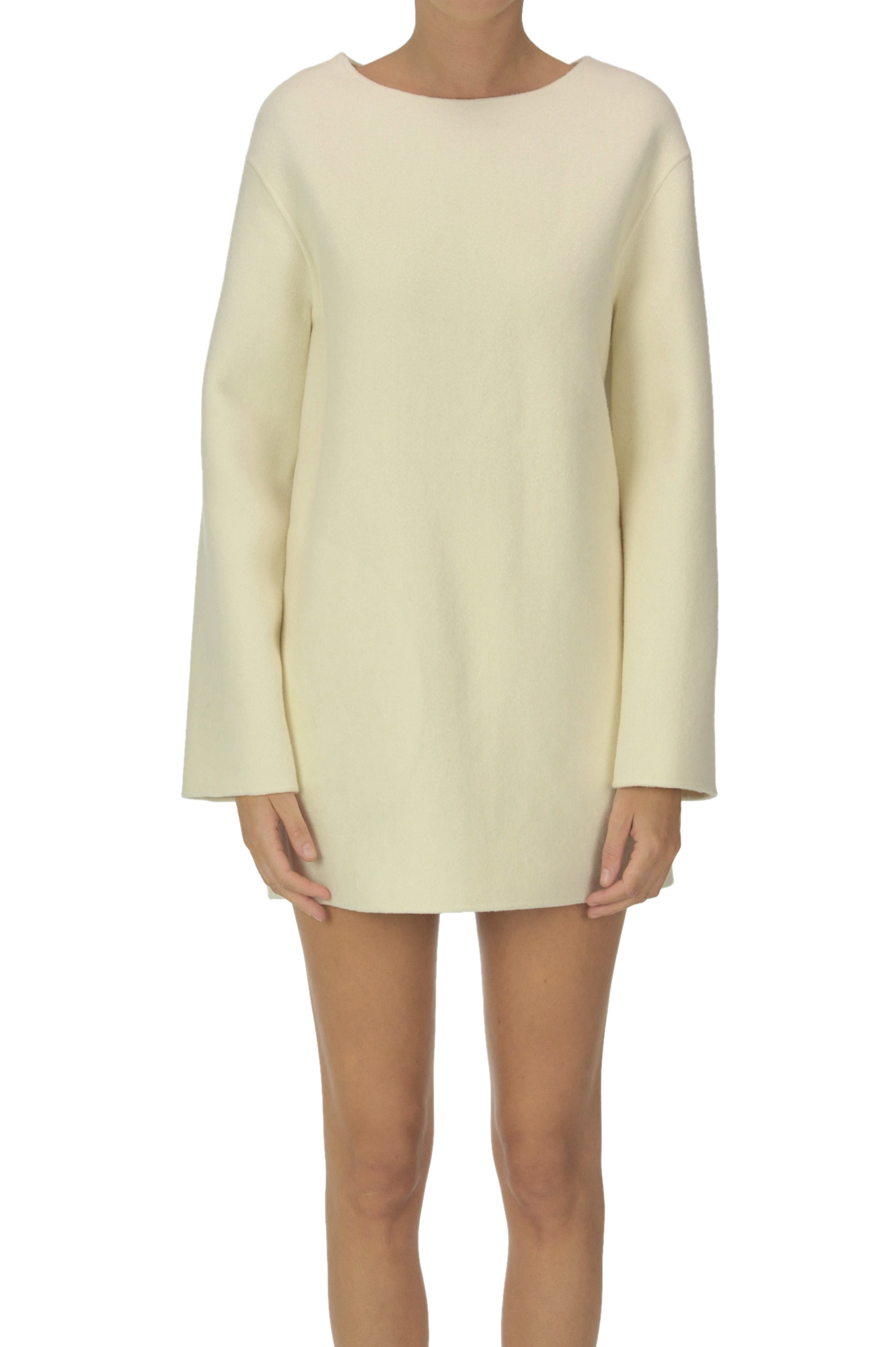 Theory WOOL-BLEND CLOTH MINI DRESS