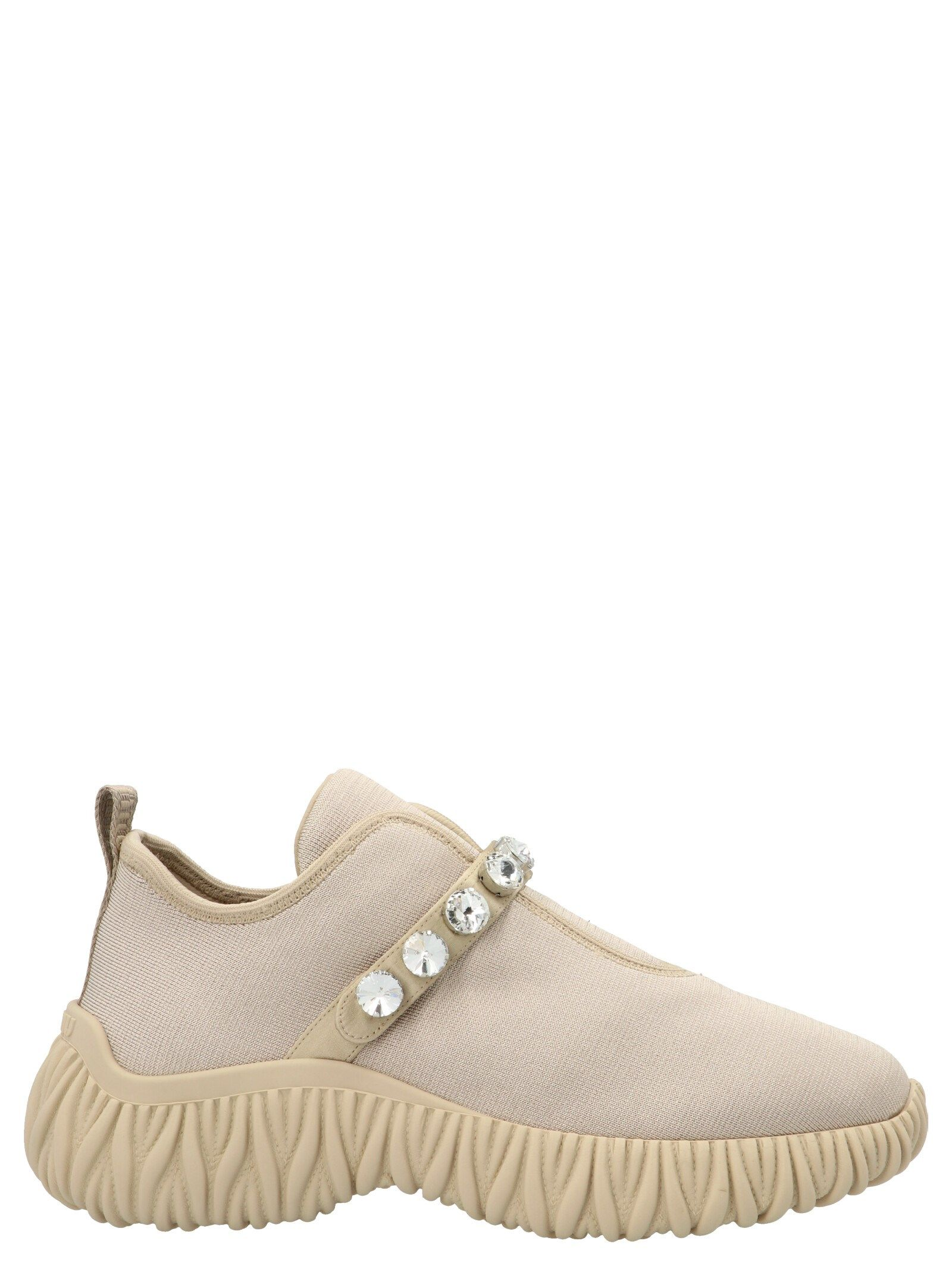 Miu Miu MIU MIU WOMEN'S 5S376D3KP3F0A48 BEIGE OTHER MATERIALS SNEAKERS