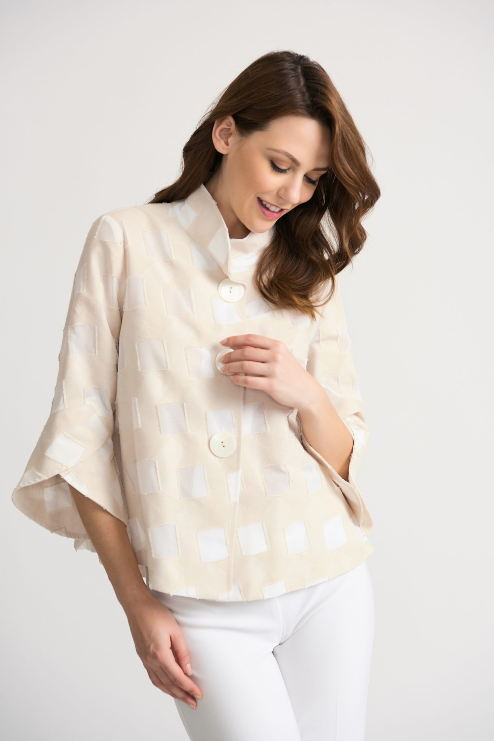 JOSEPH RIBKOFF CREAM JACKET