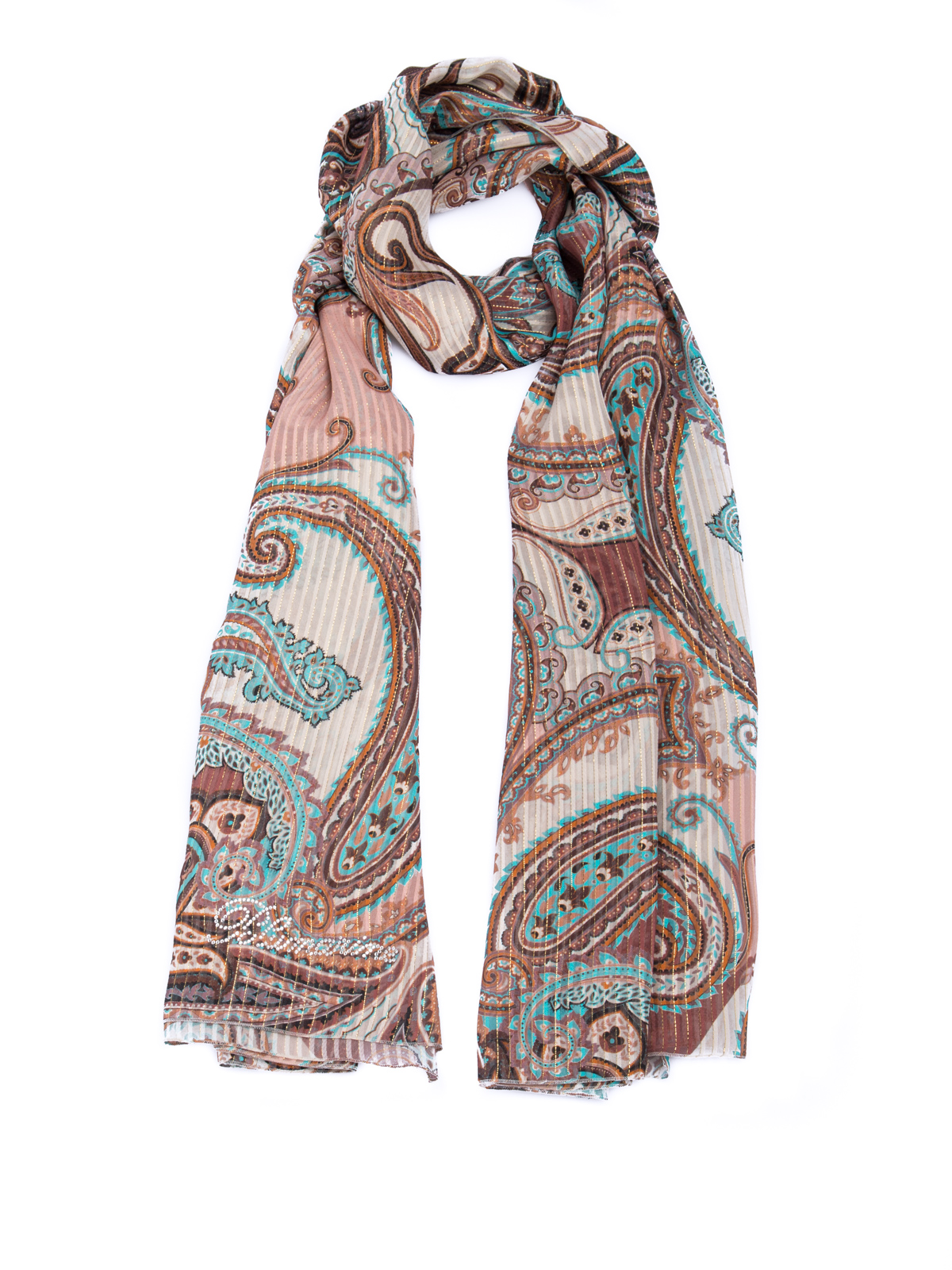 Blumarine PATTERNED FOULARD WITH LUREX