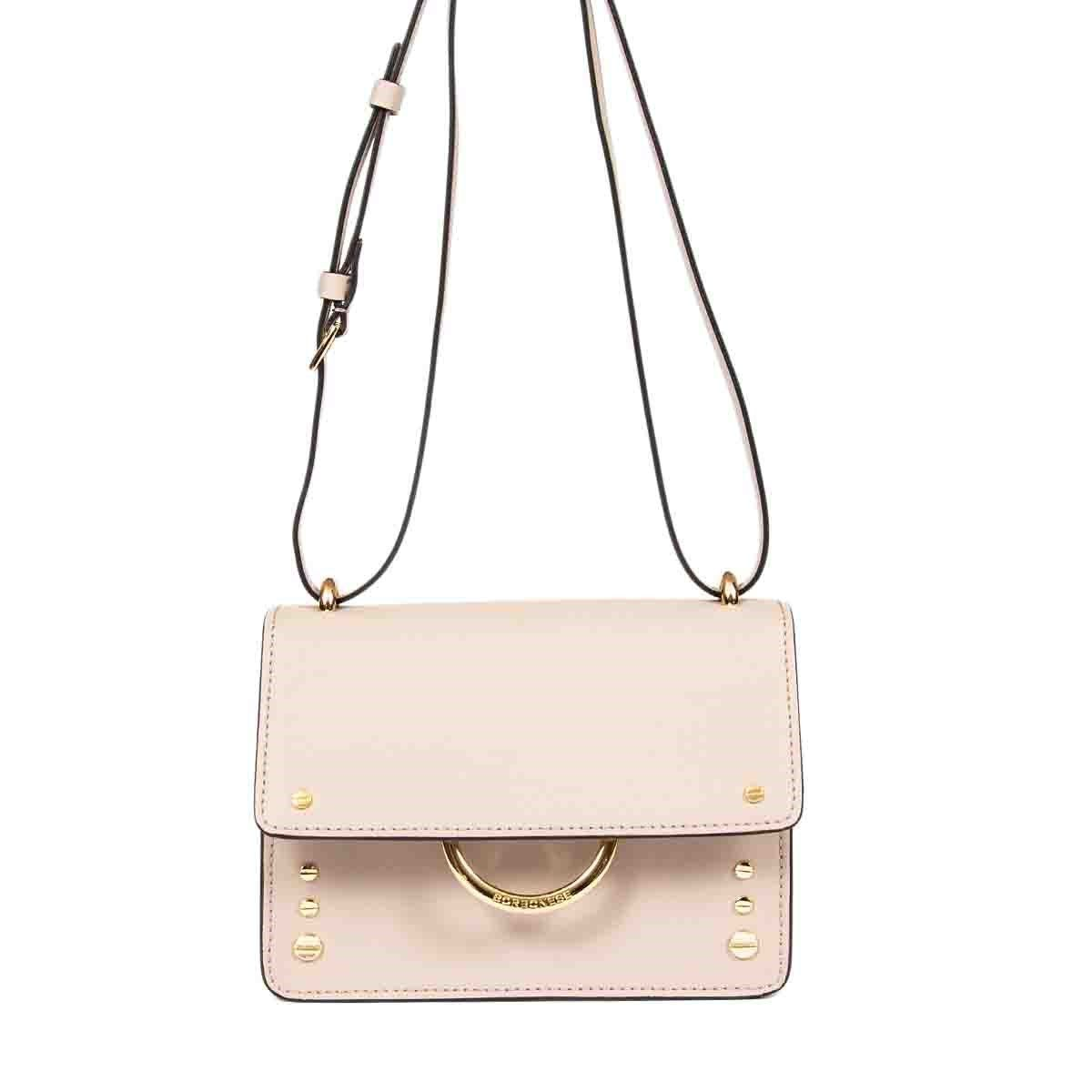 Borbonese BORBONESE WOMEN'S 924450I42V98 PINK LEATHER SHOULDER BAG